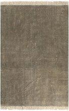 Kilim Rug Cotton 160x230 cm Taupe