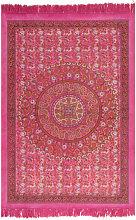 Kilim Rug Cotton 160x230 cm with Pattern Fachsia -