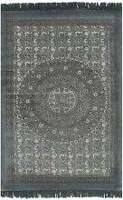 Kilim Rug Cotton 160x230 cm with Pattern Grey -
