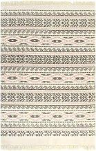 Kilim Rug Cotton 160x230 cm with Pattern Grey/Pink