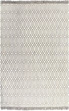 Kilim Rug Cotton 160x230 cm with Pattern Taupe -