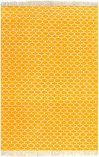 Kilim Rug Cotton 160x230 cm with Pattern Yellow -