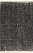 Kilim Rug Cotton 200x290 cm Anthracite