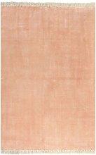 Kilim Rug Cotton 200x290 cm Pink - Pink - Vidaxl