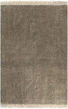Kilim Rug Cotton 200x290 cm Taupe - Brown - Vidaxl