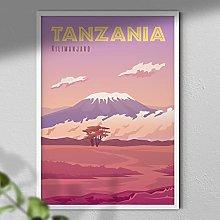 Kilimanjaro Poster - Tanzania Print | Travel Print