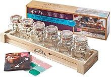 Kilner Jar Set for Storing Spices and Herbs, Lime,