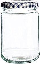 Kilner Round Twist Top Jar, Clear, 370 ml, 370ml