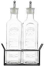 Kilner Set Of Two 0.6-Litre Oil Bottles With Metal