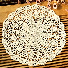 kilofly Crochet Cotton Lace Table Placemats
