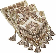 kilofly Elegant Floral Brocade Jacquard Table