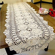 kilofly Handmade Crochet Cotton Lace Table Runner