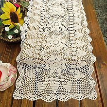kilofly Handmade Crochet Lace Rectangular Table