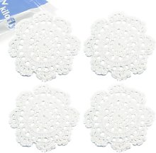 kilofly Small Handmade Crochet Round Cotton Lace