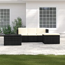Kimberly 4 Seater Rattan Corner Sofa Set with