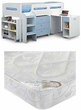 KIMBO BLUE CABIN BED & PREMIER 90CM MATTRESS