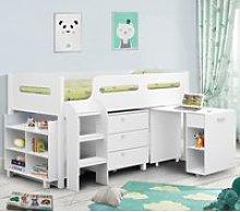 Kimbo Cabin White Bed Frame - 3ft Single