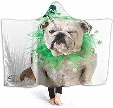 KIMDFACE Hoodie Blanket Warm Flannel,St I Patricks