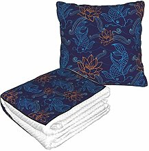 KIMDFACE Travel and Throw Blanke,Oriental Koi Fish