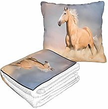 KIMDFACE Travel and Throw Blanke,Palomino Horse In