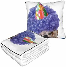KIMDFACE Travel and Throw Blanke,Purple Party Dog
