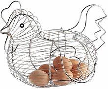 KiMiLIKE Chicken-Shaped Egg Basket Fruit Storage
