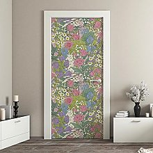 kina CDD0005 Stairs Door Decoupage Wallpaper