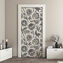 kina CDD0009 Stairs Door Decoupage Wallpaper