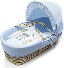 Kinder Valley Beary Nice Blue Palm Moses Basket
