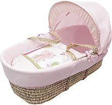 Kinder Valley Beary Nice Pink Moses Basket Bedding