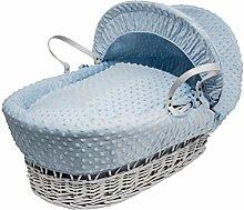 Kinder Valley Blue Dimple Moses Basket Bedding Set