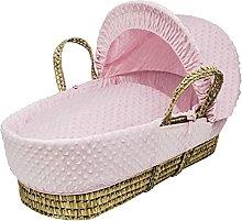 Kinder Valley Pink Dimple Moses Basket Bedding Set