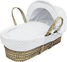 Kinder Valley White Dimple Moses Basket Bedding
