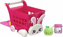 Kindi Kids Rabbit Petkin Shopping Cart and Shopkins