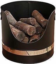Kindling Log Bucket Chrome Finish Fireside Fuel