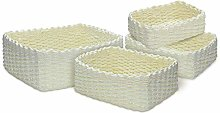 king do way Woven Wicker Storage Basket Set, plus