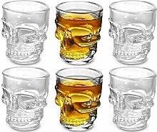 King International 1.5 Oz Shot Glass , Skull Face
