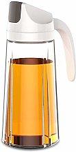 King Style Oil Dispenser,Auto Flip Olive Oil Glass
