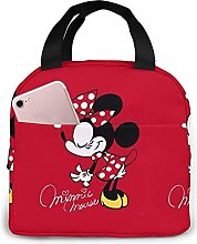 KINGAM Mickey Mouse Red Reusable Insulated Lunch