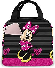 KINGAM Mickey Mouse White Lunch Bag Insulated
