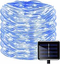 KINGCOO 100 LEDs Solar Rope String Lights,