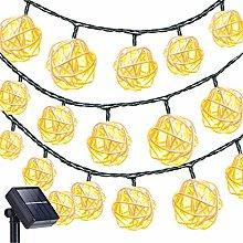 KINGCOO Rattan String Lights, Waterproof 20LED