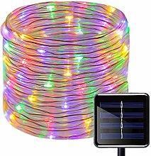 KINGCOO Solar Rope Lights, 23ft 50LED Waterproof
