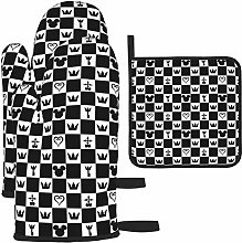 Kingdom Hearts Cooking Gloves Heat Resistant, Oven