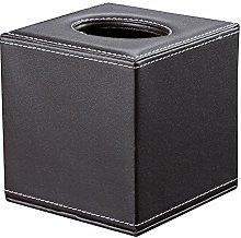 KINGFOM™ Leather Square Roll Tissue Napkin Box