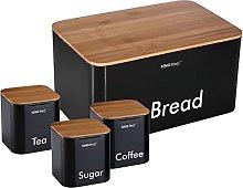 Kinghoff 4 piece Kitchen Storage Includes Bread