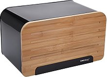 KINGHOFF Iweks Bread Bin Steel Wooden Made