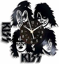 KingLive Kiss Vinyl Wall Clock Rock Band for Boy,