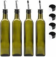 Kingrol 4 Pcs Olive Oil Bottle Pourer Glass