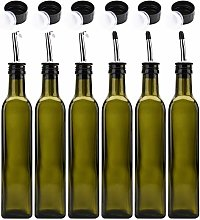 Kingrol 6 Pack 8 oz Glass Olive Oil Dispenser